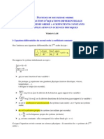 Resolution Equation Differentielle 2eme Ordre