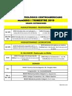 Horario I Trimestre 19, Grado, Extensiones