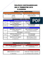 Horario II Trimestre 19, E-Learning