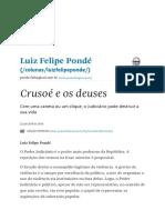 Crusoé e os deuses - 22_04_2019 - Luiz Felipe Pondé - Folha.PDF
