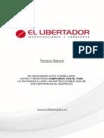 Instrucciones Formulario El Libertador