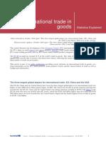 International Trade in Goods