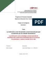 Proyecto Investigación Maestria-Cepec (Seminario I,II (Motivacion Al Estudio)