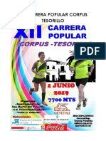 Reglamento XII Carrera Popular Corpus Tesorillo