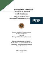 Din mostenirea muzicala a Sf Ierarh Iosif Naniescu