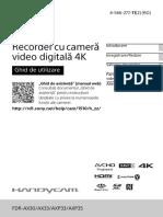 User guide for camera fdr-ax33 - Manual de utilizare camera fdr-ax33.PDF