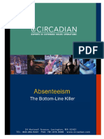Absenteeism - Bottom Line Killer
