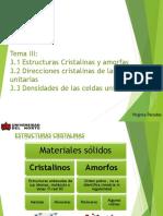 Tema III - Estructuras Cristalinas