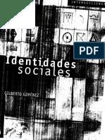 Identidades sociales-Gilberto Gimenez.PDF