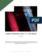 AudiofierRandomiserSeries111UserManual