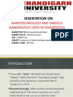 PRESENTATION ON NANOTECHNOLOGY AND VARIOUS NANODEVICES USED IN DIAGNOSTICS.pptx