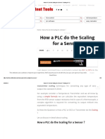 How a PLC Do the Scaling for a Sensor _ Scaling in PLC