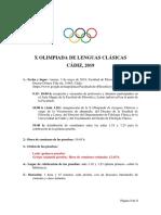 2 Circular X Olimpiada de Lenguas Clásicas Cadiz-2019