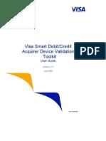 Visa Smart Debit Credit Acquirer Device Validation Toolkit