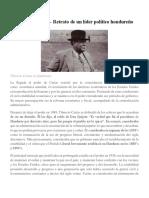 Tiburcio Carías Retrato de Un Líder Político Hondureño