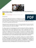 Eduardo Facussé Escribe Extenso Mensajeal Presidente Del Consejo Hondureño de La Empresa Privada