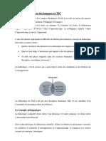 didactique des langues et tic
