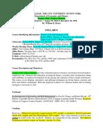 Syllabus Finance 4720A Futures Markets