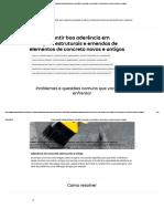 Como garantir a emenda de concreto