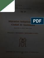 MIGRANTES INDÍGENAS EN LA CIUDAD DE GUATEMALA