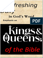 """Emphasis on """"Kings & Queens of the Bible""""  May 2019"""