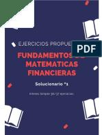 Fundamentos de Matematicas Financieras Solucionario 1