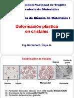 3. Deformacion Plastica en Cristales Metalicos 2015