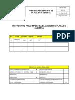 IO-CV-005 Impermeabilización Placa de Cubierta