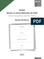 PRUEBA Módulo_ Las Zonas Naturales de Chile