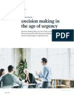 Decision Making in the Age of Urgency
