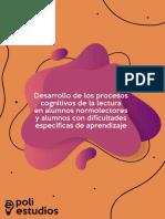 Desarrollo de Los Procesos Cognitivos de La Lectura