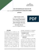 Artículo La Música Como Herramienta Para El Proceso de Aprendizaje en La Primaria de La Educación Estatal Peruana