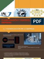 PLANIFICACION Y CONTROL DE UNA EMPRESA