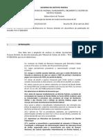 Análise do impacto orçamentário-financeiro no Tesouro Distrital a respeito da decisão do TCU