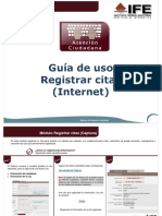 Registrar Citas(Internet)