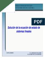 Solucion de La Ec. de Estado
