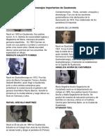 10 Personajes Importantes de Guatemala