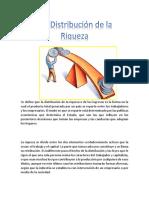 5.4 Distribución de La Riqueza.