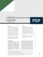 4. La Educacion Superior No Universitaria en El Salvador