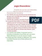 Charges Financières