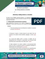 Actividad de Aprendizaje 5 Evidencia 5 Workshop Getting Started as a Translator