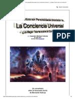 Los Individuos Son 'Personalidades Disociadas' de La Conciencia Universal - ¿La Mejor Teoría Sobre La Conciencia