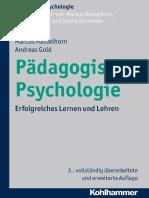 Marcus Hasselhorn, Andreas Gold-Padagogische Psychologie_ Erfolgreiches Lernen Und Lehren (Kohlhammer Standards Psychologie) (German Edition)-Kohlhammer Verlag (2013)
