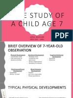 a case study of a child age 7 - april mcclure