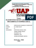 UAP MONOGRAFIA Elementos Motivadores Del Desarrollo Empresarial