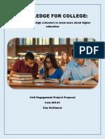 civil engagement project proposal