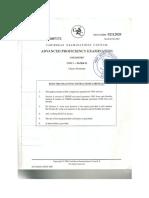 Chemistry Unit 1 Paper 2 2007