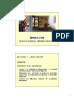 LECCION - 2 LEGISLACION [Modo de Compatibilidad]