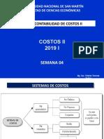 0 2019 I Contabilidad de Costos II