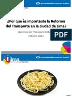 Por Qué Una Reforma Del Transporte
